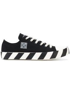 кроссовки на подошве в полоску Off-White