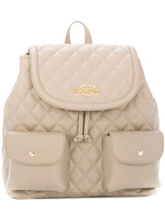 стеганый рюкзак с логотипом Love Moschino