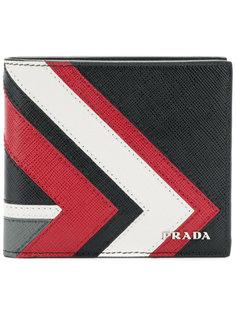 бумажник дизайна колор-блок Prada