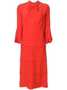платье миди с оборкой на вороте  Victoria Beckham