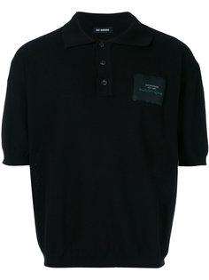 рубашка-поло с заплаткой с логотипом Raf Simons