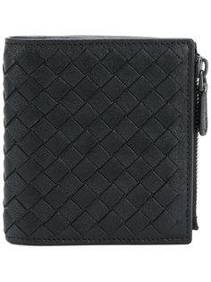 складной бумажник с плетением Bottega Veneta