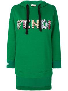 толстовка с капюшоном и логотипом Fendi