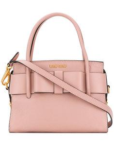 маленькая сумка-тоут с бантом Miu Miu
