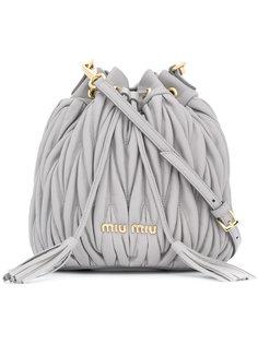 стеганая сумка-мешок Miu Miu