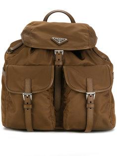рюкзак с бляшкой с логотипом  Prada