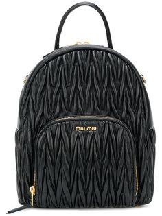 стеганый рюкзак Miu Miu