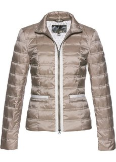 Куртка-пуховик с аппликацией (серо-коричневый) Bonprix