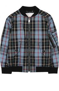 Хлопковая куртка-бомбер с принтом Burberry