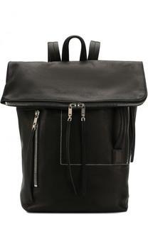 Кожаный рюкзак с внешним карманом на молнии Rick Owens