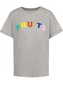 Хлопковая футболка свободного кроя с надписью Etre Cecile