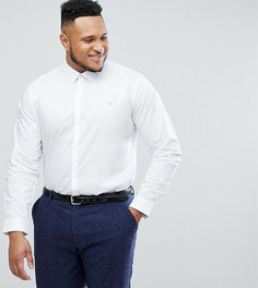 Стретчевая рубашка слим в классическом стиле Farah PLUS - Белый