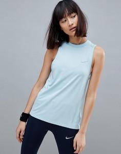 Синий топ Nike Running Dry Miler - Синий