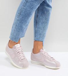 Розовые атласные кроссовки Nike Cortez - Розовый