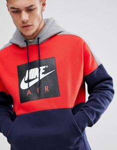 Темно-синий худи с логотипом Nike Air 886046-657 - Темно-синий