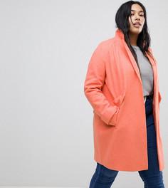 Пальто с карманами ASOS CURVE - Розовый