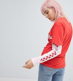 Красная с розовым двухслойная футболка Vans эксклюзивно для ASOS - Красный