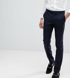 Супероблегающие брюки с принтом звезд Noose & Monkey TALL - Темно-синий