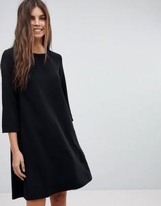 Платье А-силуэта с кокеткой на спине See U Soon - Черный