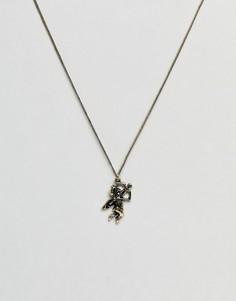Золотистое ожерелье с подвеской ASOS Valentines - Золотой