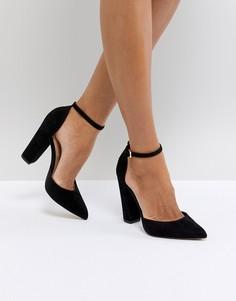 Черные туфли на высоком каблуке с острым носом и ремешками на щиколотках ALDO Nicholes - Черный