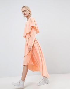 Многослойное платье макси ASOS WHITE - Розовый