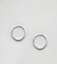 Серебряные серьги-кольца 12 мм Reclaimed Vintage Inspired эксклюзивно для ASOS - Серебряный