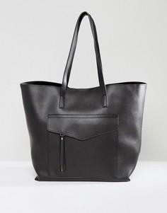 Сумка-шоппер с карманом New Look - Черный