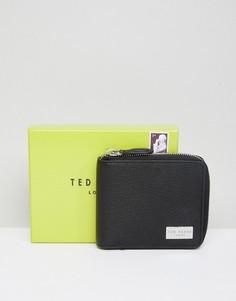 Кожаный бумажник на молнии Ted Baker - Черный