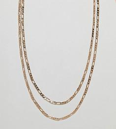 2 серебристых ожерелья-цепочки Reclaimed Vintage - Серебряный