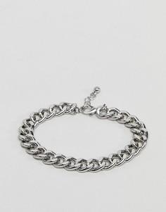 Серебристый браслет-цепочка ASOS - Серебряный