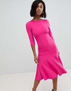 Расклешенное платье Club L - Розовый
