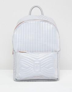 Стеганый рюкзак со светоотражающей отделкой Ted Baker - Серебряный