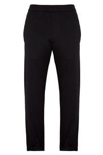 Серые брюки из хлопкового микса Prada