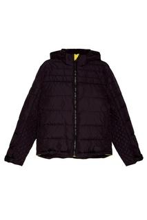 Черная стеганая куртка Prada
