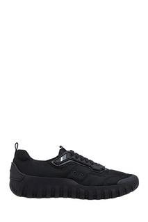 Черные текстильные кроссовки Prada