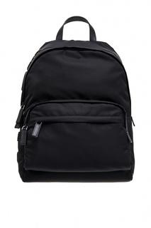 Черный рюкзак с логотипом Prada