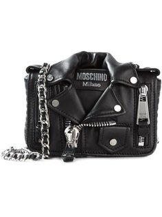 сумка в байкерском стиле на плечо Moschino