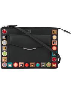 сумка через плечо декорированная заклепками Fendi