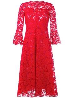 приталенное кружевное платье Valentino