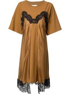 многослойное платье-футболка  Maison Margiela