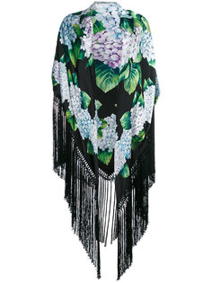 шарф с принтом гортензий Dolce & Gabbana