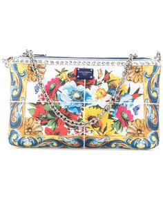 клатч с цветочным принтом Dolce & Gabbana