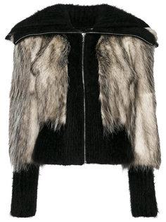 куртка с объемным воротником  Miu Miu