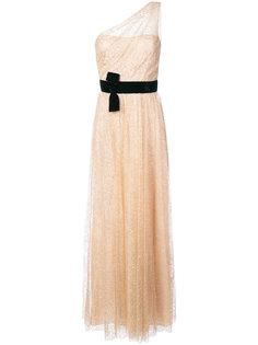 блестящее платье на одно плечо Marchesa Notte