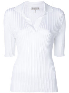 футболка-поло в рубчик Emilio Pucci