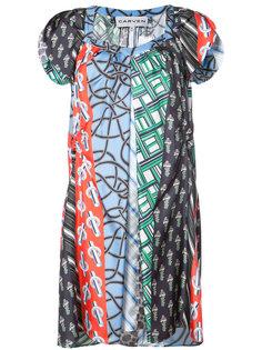 платье с контрастными геометрическими узорами Carven
