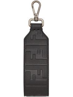 брелок для ключей с тиснением логотипа Fendi