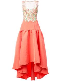 асимметричное платье с вышивкой  Marchesa Notte