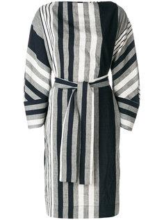 полосатое платье с поясом в стиле оверсайз Vivienne Westwood Anglomania